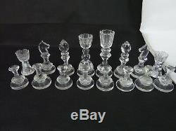 1960s Royal Doulton Cut Lead Crystal Chess Set