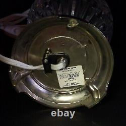 1 (One) WATERFORD CLODAGH Cut Lead Crystal Accent Lamp 16.5 T-Signed With Tag