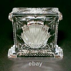 1 (One) WATERFORD COLISEUM Large Cut Lead Crystal Mantle Clock-Signed