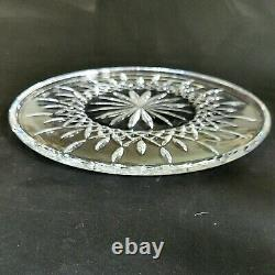1 (One) WATERFORD LISMORE Cut Lead Crystal 12.5 Cake Plate Signed