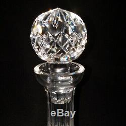 1 (One) WATERFORD LISMORE Cut Lead Crystal Ships Decanter and Stopper Signed
