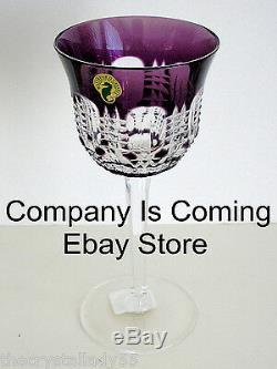 1 Waterford Simply Lilac Cased Cut To Clear Crystal Wine Goblet