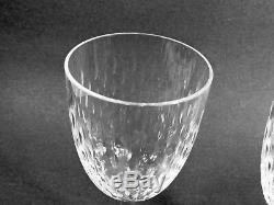 2 Marked Baccarat France Cut Lead Crystal Glass Paris Claret Wine Stems