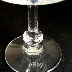 2 (Two) St LOUIS MASSENET Cut Lead Crystal Continental Champagnes FRANCE Signed