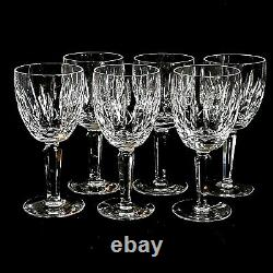 6 (Six) WATERFORD KILDARE Vintage Cut Lead Crystal Water Goblets Signed