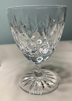 6 X Vintage Art Deco Lead Crystal Royal Doulton Cut Glass Champagne/ Wine Coupes