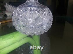 American Brilliant Period cut glass cologne bottle lead crystal ABP