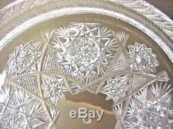 Antique Cake or Pie Dome Top Plate American Brilliant Cut Glass Lead Crystal