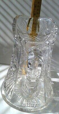 Antique Crystal American Brilliant Period Leaded Cut Glass Large Water Pitcher