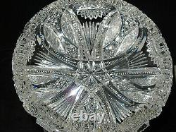 Antique Stunning ABP (1876-1917) 8 Cut Lead Crystal Bowl 3/8 thick