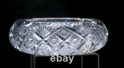 Ashtray American Brilliant Cut Glass Magnificent Quality Large Size Heavy Thick