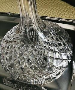 BEAUTIFUL 24% Lead Crystal HAND CUT Ship's Decanter Violetta Poland! Excellent