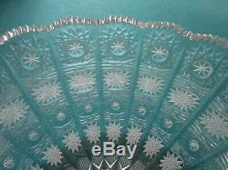 BOHEMIAN QUEEN LACE VINTAGE HAND CUT 24% lead crystal bowl VASE PICK ONE