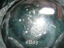 Baccarat Malmaison (Cut) Full-Lead Crystal Wine Decanter with Stopper