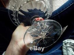 Big Compote Footed Bowl, Waterford Lead Crystal Cut Glass signed Marlborough