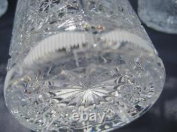 Bohemia Queen Lace Hand Cut 24% Lead Crystal Water Glass 12 Oz Mint 6 Pc