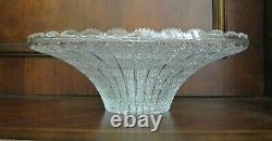 Bohemian Czech Vintage Crystal 16 Round Bowl Hand Cut Queen Lace 24% Lead Glass