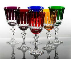 Box of 6 Hand Cut 24% Lead Large Wine Crystal Glasses 220ml NEW COLLECTION GIFT