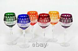 Box of 6 Hand Cut 24% Lead Large Wine Crystal Glasses 280ml NEW COLLECTION GIFT
