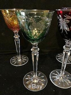 Crystal Cut to Clear Harlequin Lead Crystal Wine Goblets Glasses