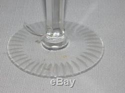 Czech Bohemian Lead Crystal Hand Cut to Clear Wine Hocks Goblets SET OF 3 Colors