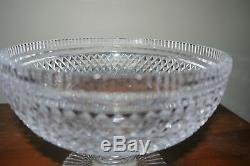 Exquisite NWT Waterford Crystal Cut Pedestal Bowl