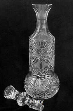Exquisite hand cut full lead crystal decanter, 16 inches