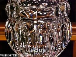 FAB MONUMENTAL 16T 11.5 lbs Lead Crystal Footed PANEL CUT GLASS Vase IMPRESSIVE