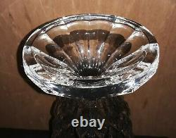 Flared Cut Clear Lead Crystal Large Vase, 16, excellent