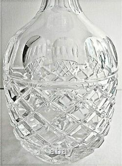 Gorgeous VINTAGE Cut Lead Crystal Decanter. PINEAPPLE BODY. STOPPER Pristine