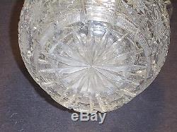 HAND CUT QUEEN'S LACE 11-1/4 BOHEMIA CZECH 24% LEAD CRYSTAL PITCHER with LABEL