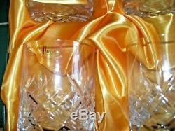 Harrods 6 Hand Cut Lead Crystal Tumblers Knightsbridge Collection Silk Box New