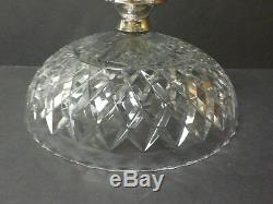 Hawkes Lead Crystal 9 Footed Bowl / Compote, Sterling Silver Base