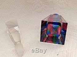 Imperlux Perfume Bottle w Stopper Germany Hand Cut Lead Crystal Faceted