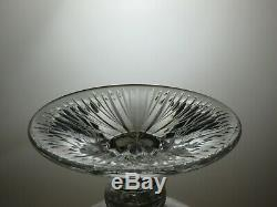 Large Lead Crystal Cut Glass Footed Punch Pedestal Bowl Centerpiece