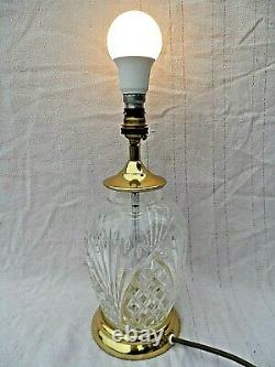 Lead Crystal Cut Glass Blenheim Table Lamp Perfect Condition Gwo 12 Tall