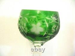 NACHTMANN Bamberg CUT TO CLEAR Lead Crystal Set Of 5 Wine Glasses Germany