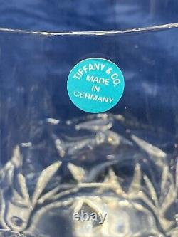NEW Set of 4 Tiffany & Co Crystal Rock-Cut DOF Double Old Fashioned Glasses