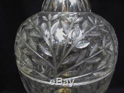 PAIR Large Hand-Cut Lead Crystal Table Lamps by Lausitzer Glass Branch Pattern