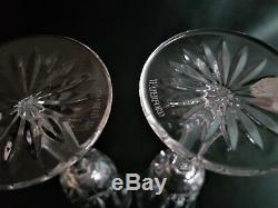 Pair Waterford Clear Fluted Champagne Glasses In Ballyshannon Cut, New, Signed