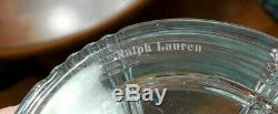 RALPH LAUREN Glen Plaid Lead Crystal Decanter & (4) Double Old Fashioned Glasses