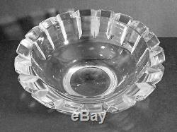 SIGNED ORREFORS FA1982 CUT LEAD CRYSTAL BOWL EDVIN OHRSTROM DESIGN 1950s