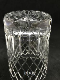 Set of 4 Bohemian Hand-cut Lead Crystal Old Fashioned Glasses SPECIAL & RARE