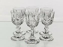 Set of 6 Vintage Webb Hand Cut Lead Crystal Sherry Glasses Boxed