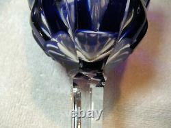 Set of Five Matching Vintage German Bohemian Cut to Clear Lead Crystal Goblets