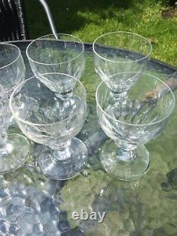 Stunning Vintage Antique lead cut crystal wine glass x 4 glasses + mixed others