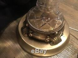 Stunning Vintage Lead Cut Crystal Table Lamp with 10 Sparkling Hanging Prizms