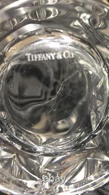 Tiffany & Co Lead Crystal Rock-Cut High Ball Glasses Set of Four 6.5 Tall
