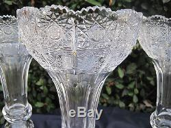 Vintage Bohemia Queen Lace 24% Lead Hand Cut Crystal Luster 15 Nib
