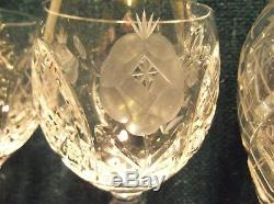 Vintage Bohemian Lead Crystal Hand CutDecanter and Glass Set